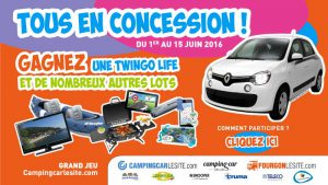 Grand jeu concours Sud Loire Caravanes